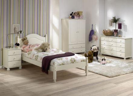 CARLTON 3FT LOW FOOT END BED CREAM/PINE